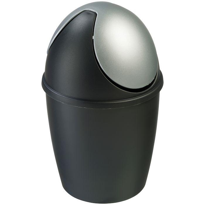 Efterstræbte Affaldsspand med vippelåg, 1,5 l, sort MN-03