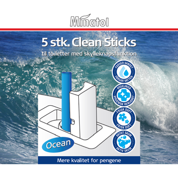 WC Clean sticks / Ocean/Hav Duft 5 stk/pak