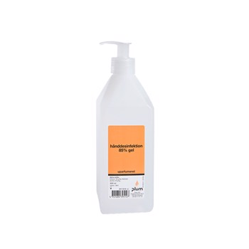 Plum Hånddesinfektion 85% Gel med pumpe, 600 ml