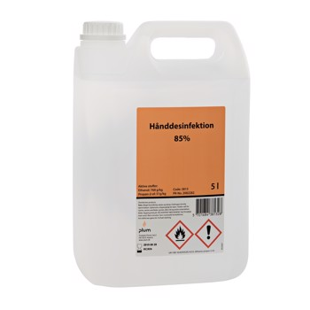 Plum hånddesinfektion 85% gel, 5 liter