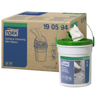 Tork Wet Wipes spand vådeservietter, 58 ark/spand