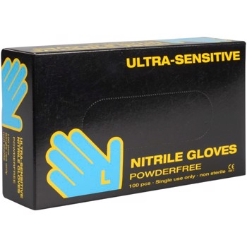 Nitril Ultra Sensitive u/pudder L Transparent 100stk/pak