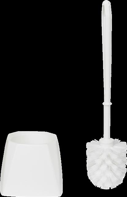 Toiletbørste, hvid plast