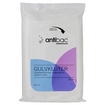 Antibac Floor Wipes 20 stk/pak