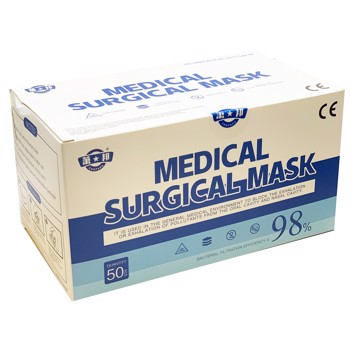 Ansigtsmask MEDICAL SURGICAL MASK  3-lags 50stk/pak